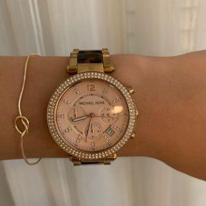 Michael kors rose gold tortis watch